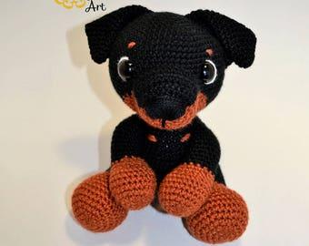 Dog, puppy amigurumi crochet yarn handmade soft toy