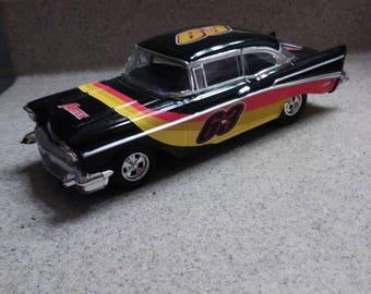 AIRTEX 63 NASCAR 1957 CHEVY 210 series Bel Air Car Bank  Die Cast by Ertl