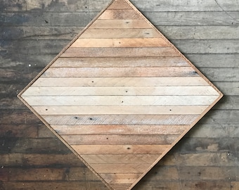 """Reclaimed Wood Wall Art 23""""x 23"""", Light Natural Wood Ombre"""