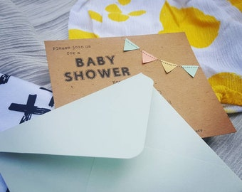 Baby Bunting - Baby Shower invitation