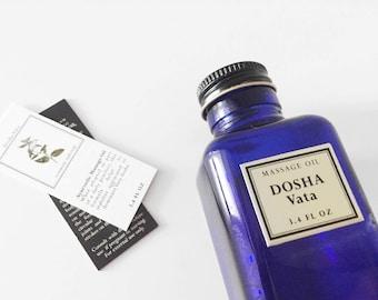 Dosha Vata Massage Oil - Ayurvedic Oil - Ayurvedic Massage - Organic Massage Oil - Aromatherapy - Abhyanga - Natural Body Oil - Vegan Gift