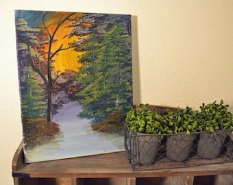 Snowy Forest Acrylic on Canvas