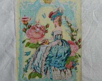 Transfer. Large transfer: Lady in a romantic shabby style