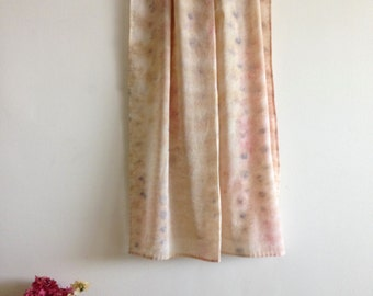 Natural Dye Bundle Scarf - Cotton Muslin - splatter - Rose - Large