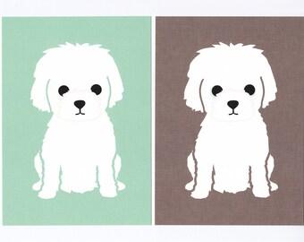 Little White Dog Giclee Print
