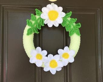 Crochet Daisy Wreath