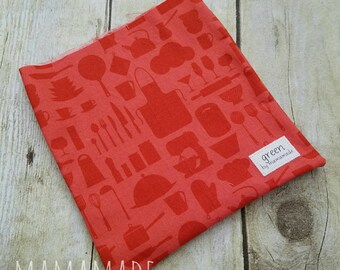 Red Kitchen - Reusable Sandwich Bag | Snack Bag | Waterproof | Travel Bag from green by mamamade