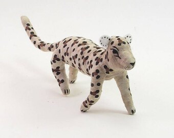 Vintage Style Spun Cotton Leopard/Cheetah Ornament/Figure (MADE TO ORDER)