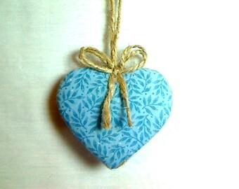 Blue Heart Ornament   Valentine's Day   Spring Decor   Party Favor   Birthday   Tree Ornament   Holiday Decor   Handmade Gift   #2