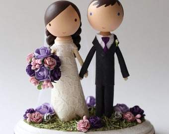 custom wedding cake topper - standard base