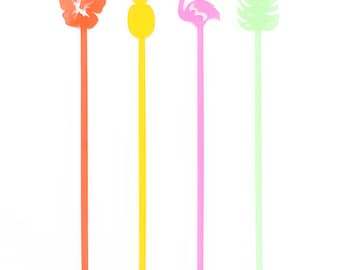 Tropical Mix Drink Stirrers