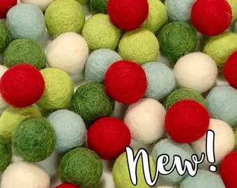 Collection - 60PC Piece TINSEL Felt Balls
