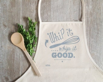 Apron - Whip It Good Apron Baking Cooking Baker Chef Cotton Canvas Full Apron Autumn Baking Fall Baking Cooking Holiday Baking Food Kitchen