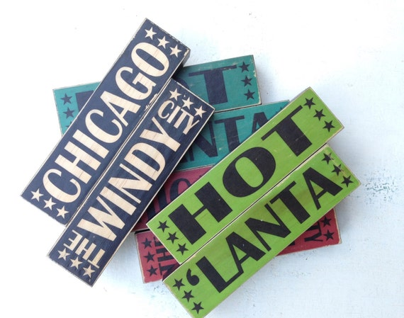 Chicago City Stacks- Art Blocks Chicago The Windy City Art Block for Desk- Art Blocks Office Decor- Art Decor For Him- City of Chicago Art