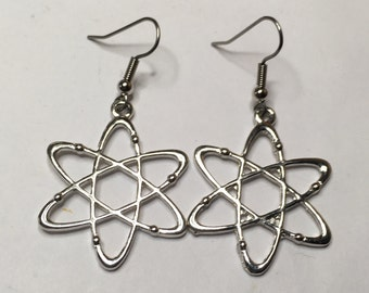 Gorgeous Geekery Silver-Plated Rutherford's Atom Earrings - Physics, Chemistry, Science, Laboratory - Great Gift!