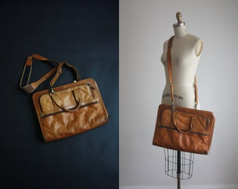 perfectly distressed leather satchel