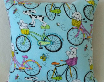 Dogs on a Bike Ride Pillow so cute!