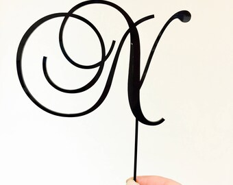 Personalised Initial Cake Topper - Single Letter Birthday Cake Decoration - Custom Cake Toppers (ARC1717) Made in Melbourne Australia