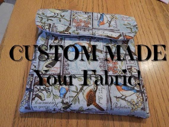 Stamparatus Portfolio Case  Custom Made Special Order  Your Fabric  with Pocket Flap Cover Velcro Enclosure