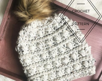 The Maple Beanie Crochet Pattern, Bobble Beanie Crochet Pattern, Bobble Crochet Beanie, Chunky Crochet Beanie Pattern, Bobble Pattern