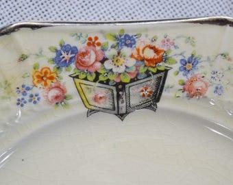 Vintage Bread Plate Set of 12 Edwin Knowles Floral Design Planter Vintage China Dish Chippy PanchosPorch