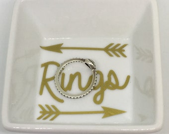 Ring Dish, Ring Holder, Ring Tray, Small Trinket Holder, Jewelry Holder, arrows ring holder