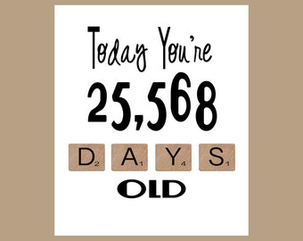 70th Birthday Card, The Big 70, Age Card, 70 Birthday, 70 Card, 70th, Milestone Birthday, 1948 Birthday Card, Funny Birthday Card
