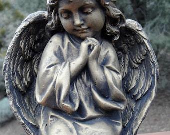 Angelic Cement Garden Statue ~ Praying Angel ...