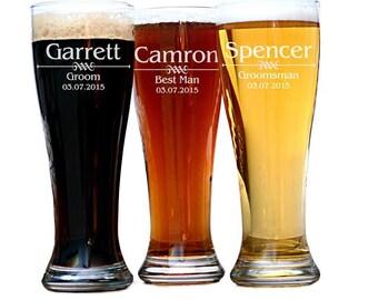 Groomsman Beer Glass, Personalized Groomsman Gift, Best Man Gift, Best Man Pilsner Mug, Groomsmen Gift, Groomsmen Beer Glass, Gifts for Men