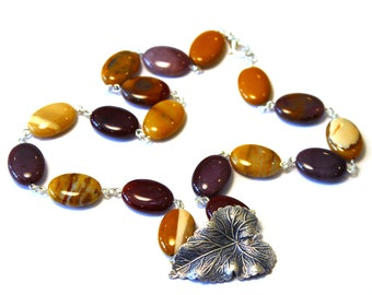 NEW Marigold Jewelry, Earth Tones, Purple Statement Necklace, Plant Jewelry, Ivy Necklace, Ivy Jewelry, Plant Necklace, Nature Jewelry
