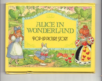 Alice in Wonderland Vintage Pop-Up Picture Story Book