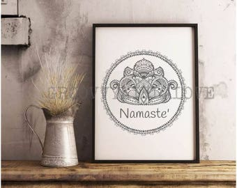 Lotus Instant Download for Electronic Cutters silhouette cricut vinyl digital decal hippie boho chic t shirt heat transfer