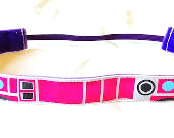 NOODLE HUGGER Non slip ribbon headband - Star Wars R2KT - 7/8 inch (running, working out, everyday: women and girls)