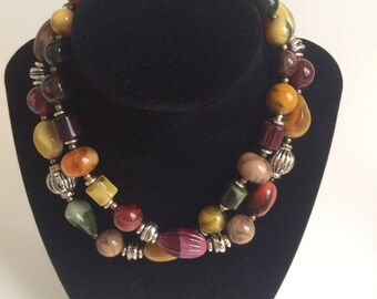 Gorgeous Autumn Beaded Necklace