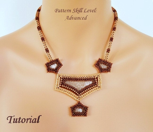 Looking glass beaded necklace beading tutorials and patterns zoom aloadofball Choice Image
