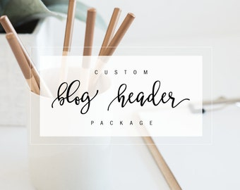 custom blog or blogger header or logo