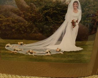 1985 Wedding Dress and Veil, Sealed in Box