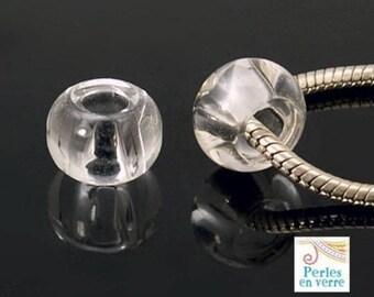 Europeans 3 beads, glass, 10x15mm (pv422)