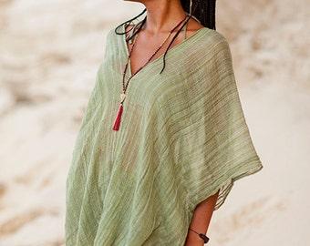 LIGHT PONCHO, woven cotton  poncho, boho poncho,  cotton poncho, transparent poncho, light poncho , cotton tunic,