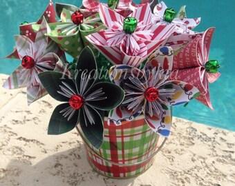 Deck the Halls- Kusudama Origami Flower Bouquet / flower Arrangement/ Wedding/ Bridal Shower/ Baby Shower/ Baby Shower/ Reception