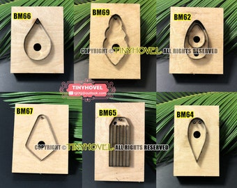 The Teardrop Earring Steel Rule Die Cut, Cutting Mold for Leather, Steel Punch - Cutter for leather crafts (BM017)