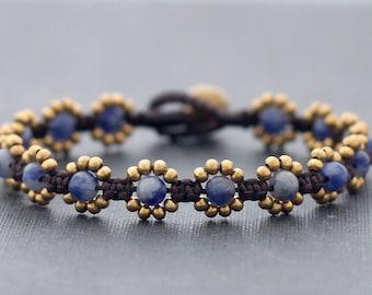 Mini Daisy Sodalite Bracelet