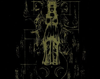 Screen Print _ (Gold Ink) - Hecate