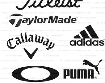 GOLF, Titleist, Taylormade, Callaway, Adidas, Oakley, Decal, Monogram Decal, Vinyl, Permanent Decal, Vinyl Sticker, Window Decal, Bumper