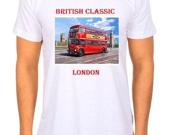 London Bus Tshirt 1950s Tee shirt
