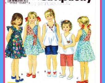 Girls 2 Hour Basic Dress or Jumper. Simplicity 9020 size 5, 6, 6X