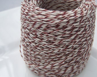 Bakers Twine - Espresso and White Bakers Twine (or your choice) -  50, 75 or 100 yards