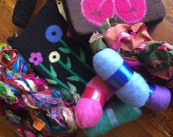 Mystère fibre Craft Supplies en poids: 5 livres. Boîte