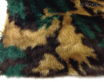 Camouflage Faux Fake Fun Animal Fur - ~Soft 20mm Pile - Sold in Various Lengths - DIY Teddy Bear Crafts
