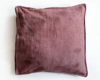 Linen Pillowcase / Decorative Linen Pillow Covers / Pure Linen Pillow Case / Hand Dyed Linen Cushion / Wabi Sabi Pillowcases.